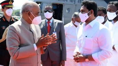 President Kovind Chittoor Tour: మదనపల్లె సత్సంగ్ ఆశ్రమానికి రాష్ట్రపతి కోవింద్, రేణి గుంట ఎయిర్పోర్టులో రాష్ట్రపతికి ఘన స్వాగతం పలికిన ఏపీ సీఎం వైయస్ జగన్, మంత్రులు
