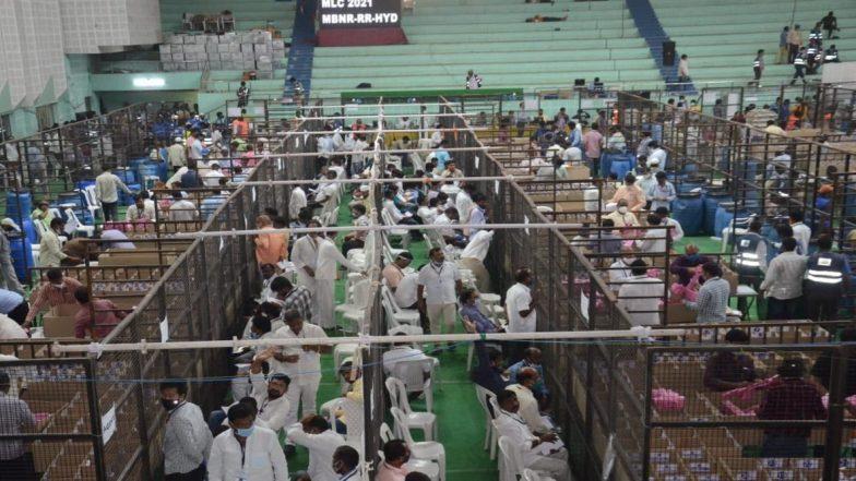 MLC Polls 2021 Counting: తెలంగాణలో గ్రాడ్యుయేట్స్ ఎంఎల్సీ స్థానాలకు కొనసాగుతున్న కౌంటింగ్, ఆధిక్యంలో ఉన్న టీఆర్ఎస్ అభ్యర్థులు, రెండో ప్రాధాన్యత ఓట్లు తమకేనని ప్రత్యర్థుల ధీమా!