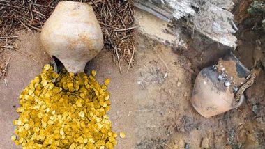 Treasure Pot: తెలంగాణలోని జనగామ జిల్లాలో బయటపడ్డ లంకె బిందె, సుమారు 5కేజీల బంగారు, వెండి అభరణాలు లభ్యం, ఘటనాస్థలానికి చేరుకున్న పోలీసు, రెవెన్యూ సిబ్బంది