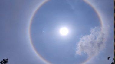 Sun Halo in HYD: హైదరాబాద్లో సన్ హాలో, సూర్యుడి చుట్టూ అందంగా పరుచుకున్న ఇంద్రధనస్సు, సోషల్ మీడియాలో ట్రెండ్ అవుతున్న హలోస్ ఫోటోలు