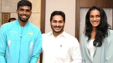 Andhra Pradesh:టోక్యో ఒలింపిక్స్లో పాల్గొనే ఏపీ క్రీడాకారులకు సీఎం జగన్ అభినందనలు,ఒక్కొక్కరికి రూ. 5 లక్షల చెక్ను అందజేసిన ఏపీ ముఖ్యమంత్రి