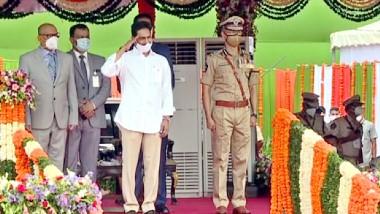 India Independence Day 2021: రేపు అనేది ప్రతి ఒక్కరికీ భరోసా ఇవ్వాలి, కొత్త లక్ష్యాలను నిర్దేశించుకునే సమయం ఇదే, ఇందిరాగాంధీ స్టేడియంలో జాతీయ జెండాను ఆవిష్కరించిన ఏపీ సీఎం, రాష్ట్ర ప్రజలనుద్దేశించి ప్రసంగించిన ఏపీ ముఖ్యమంత్రి వైఎస్ జగన్