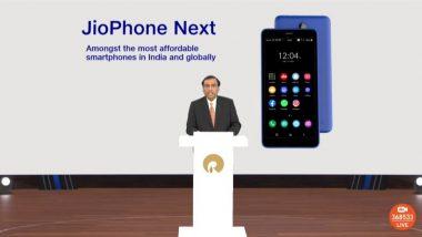 JioPhone Next Pre-Bookings: రిలయన్స్ నుంచి చవకైన స్మార్ట్ఫోన్, జియోఫోన్ నెక్స్ట్ బుకింగ్స్ వచ్చే వారం నుంచే, ఫోన్ స్పెసిఫికేషన్లు, ధర వివరాలపై ఓ లుక్కేసుకోండి