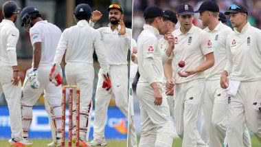 India vs England Test Series 2021 Schedule: ఆగస్టు 4 నుంచి టీమిండియా -ఇంగ్లండ్ టెస్టు సిరీస్, కప్ సాధించేందుకు కసరత్తు చేస్తున్న కోహ్లి సేన, జో రూట్ బృందం, సీరిస్ పూర్తి షెడ్యూల్ ఇదే..