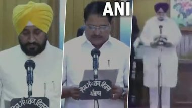 Charanjit Singh Channi Sworn-In: పంజాబ్ 16వ ముఖ్యమంత్రిగా చరణ్జిత్ సింగ్ చన్నీ ప్రమాణ స్వీకారం, ఉప ముఖ్యమంత్రులుగా సుఖ్ జిందర్ సింగ్ రంధ్వా, ఓపీ సోనీలు ప్రమాణ స్వీకారం
