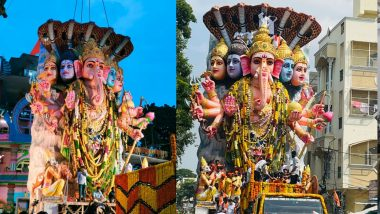 Ganesh Visarjan 2021: సీఎం జగన్ కోసం.. రూ.18.90 లక్షలకు బాలాపూర్ లడ్డు దక్కించుకున్న వైసీపీ ఎమ్మెల్సీ రమేష్ యాదవ్, మర్రి శశాంక్ రెడ్డి, హైదరాబాద్లో వైభవంగా కొనసాగుతున్న గణేశుడి మహా శోభాయాత్ర